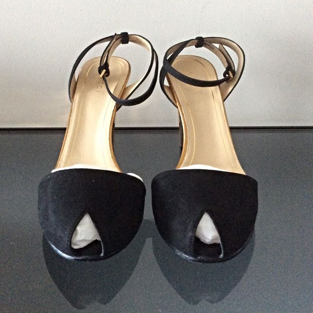 Gucci Art Deco inspired Black Suede