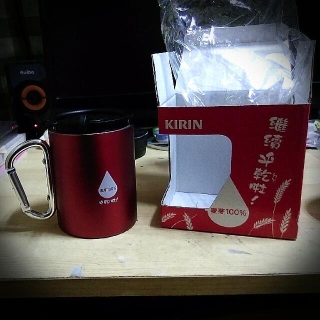 K I R I N 一番搾麥芽不銹鋼紀念杯
