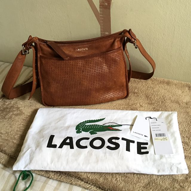 Lacoste Brown Body Bag
