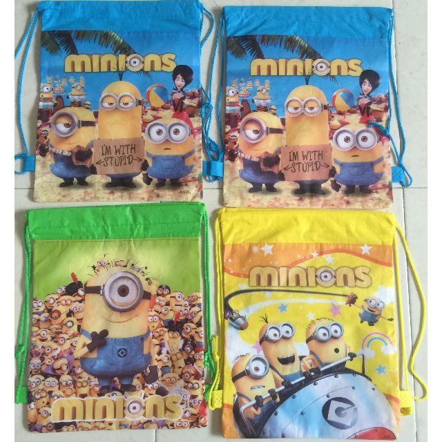 Minions drawstring bags