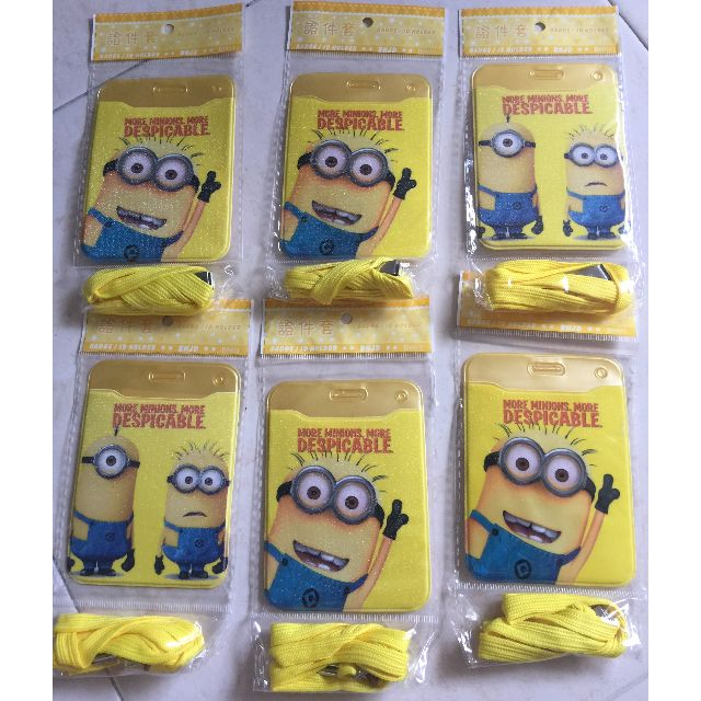 Minions ID/EZ link card holder with lanyard