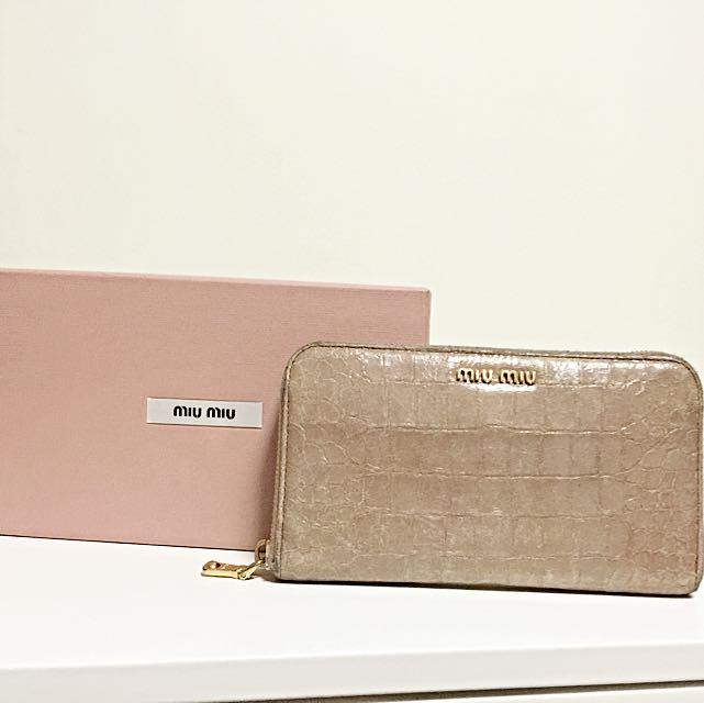b284167a8753 Miu Miu Wallet In Dusty pink With Box