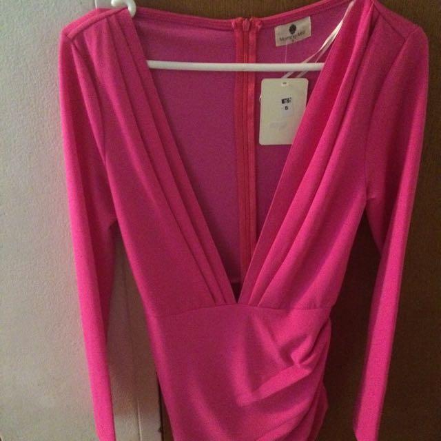 Morning Mist Size 8 Long Sleeve Dress