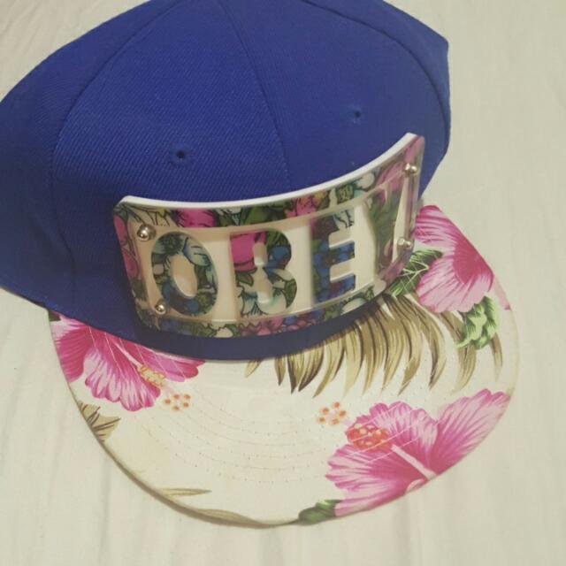 OBEY cap Floral Hat Navy