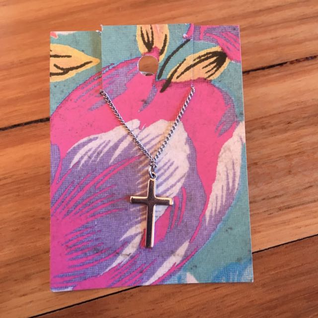 Silver Cross Necklace And Pendant