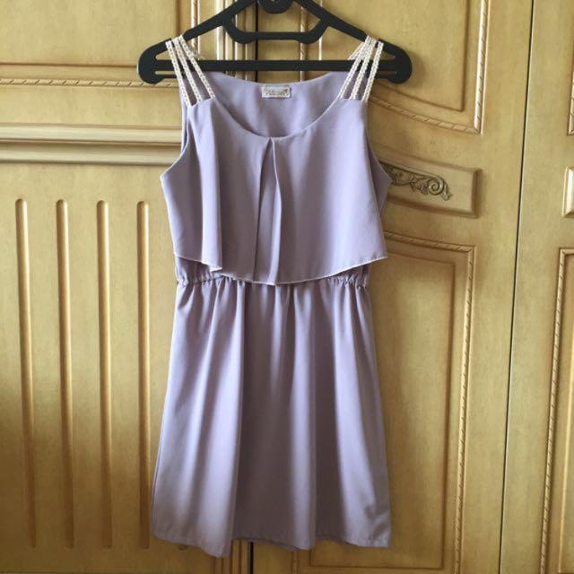 Stripe Lilac Dress