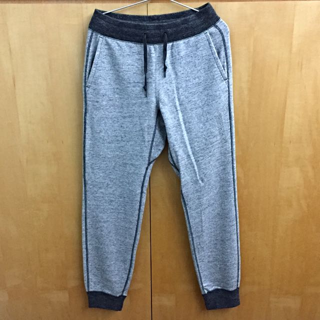 Uniqlo 棉褲 縮口 灰色