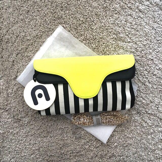 Yellow Stripe Clutch