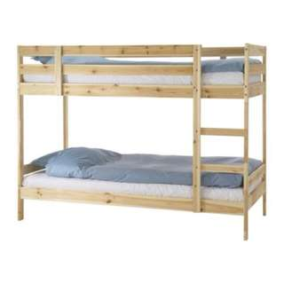 Wooden Double Deck Bed: Bought Last Dec 2015 Only. Clearing out for more space in the room. Also willing swap with Optional Items.