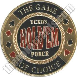 Game Of Choice Texas Holdem Poker Coin Card Guard