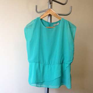 Forcast Light Green Top Size 6