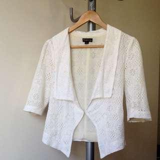 BLUEJUICE White Lace 3/4 Sleeve Jacket 6