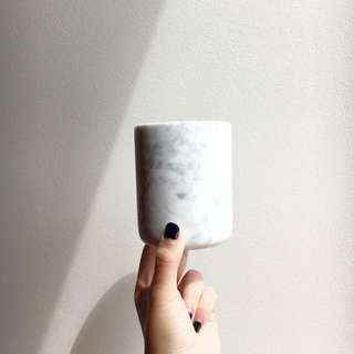 Authentic Carrara Marble Jars