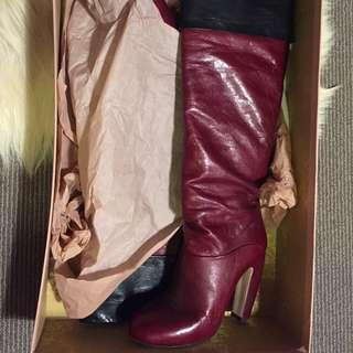 Mui Mui Knee High Boots