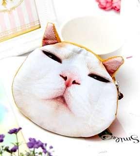 貓咪零錢包/可愛零錢包╭。瞇瞇眼 ♥白臉貓 ╮。零錢包