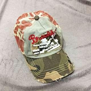 [ 出清 ]軍人迷彩後扣式帥氣帽