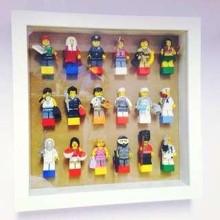 手工LEGO樂高玻璃人偶收藏框,樂高迷最愛,