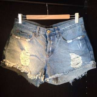 BARDOT 'Mid-waist Denim Blue Shorts'