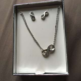Earrings And Necklace Infinity Matching Jewellery
