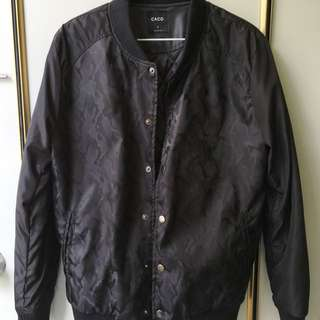 Caco滑面迷彩棒球外套(黑)#爸爸節男裝8折