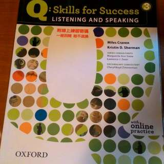 Q:Skill for success 3- listening And Speaking (英文系用書)#出清課本