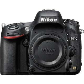 Near new Nikon D610