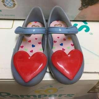 (二手)Mini Melissa 紅色愛心 兒童鞋