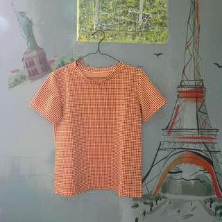👕橘黑挺版短袖上衣