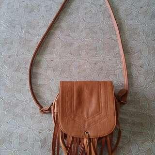 Bohemian Style Brown Tassle Handbag