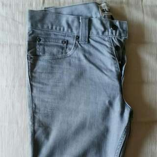 Grey Topman Jeans With Button Fly