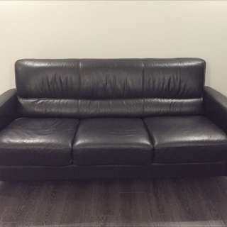 Full Leather 3 Seater Sofa