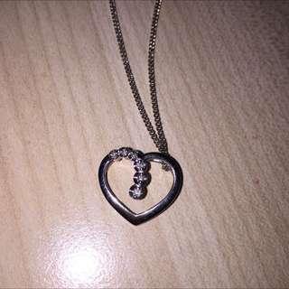 18ct Diamond White Gold Heart
