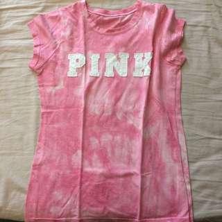 粉紅混色上衣