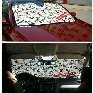 [汽車百貨]日本NAPOLEX 米奇前擋遮陽板
