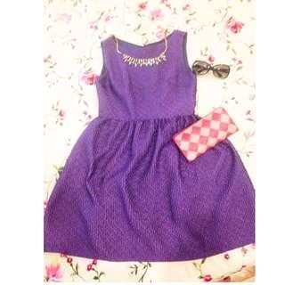 Bare back purple dress