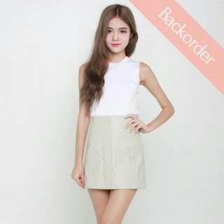 Rae & Rum Leather Mini Skirt [BNIB]