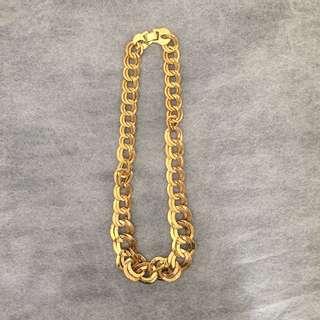 個性風金色項鍊