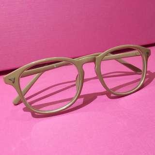 奶油駝色膠框眼鏡