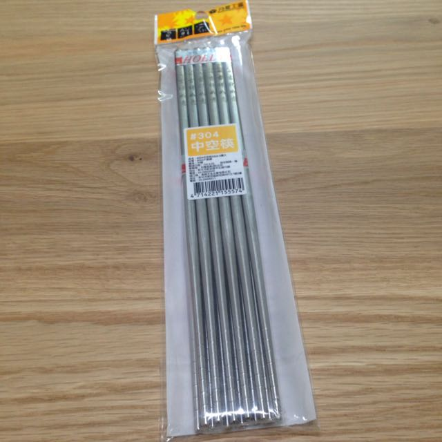 不鏽鋼中空筷6雙