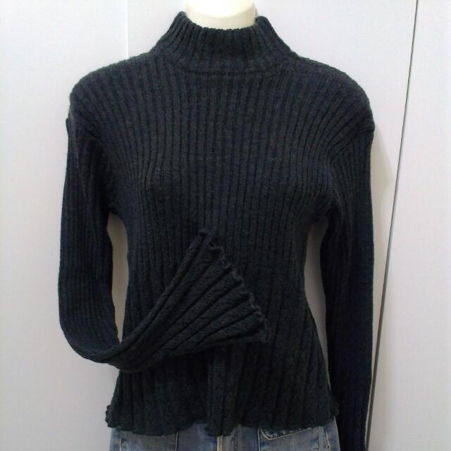 針織毛衣(深鐵灰)