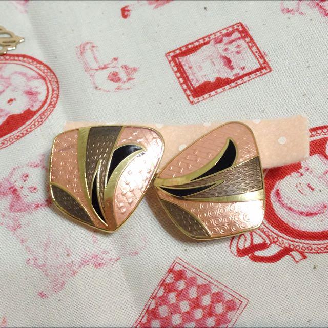 復古景泰藍耳環