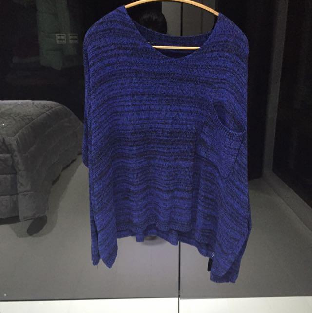 深藍針織衣