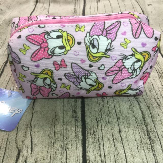 迪士尼授權商品—黛西萬用包,筆袋,化妝包