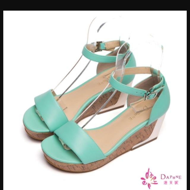Daphne達芙妮 Tiffany色 楔型鞋 涼鞋