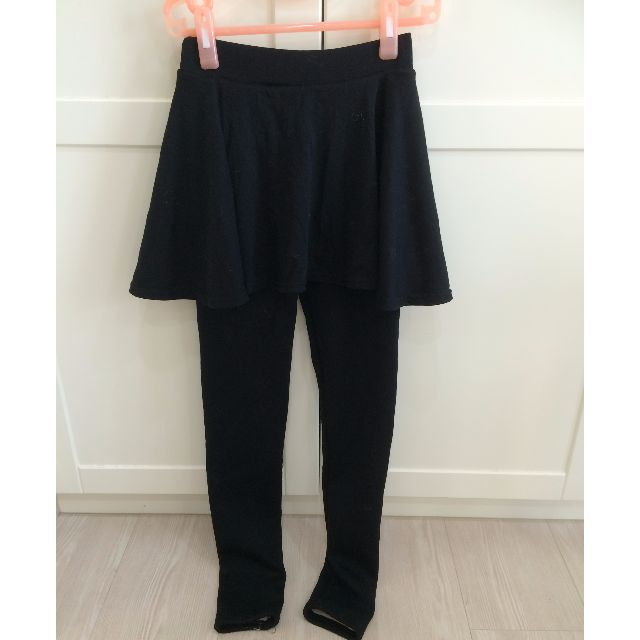 全新 超保暖內裡鋪毛假兩件短裙&內搭褲組 黑色