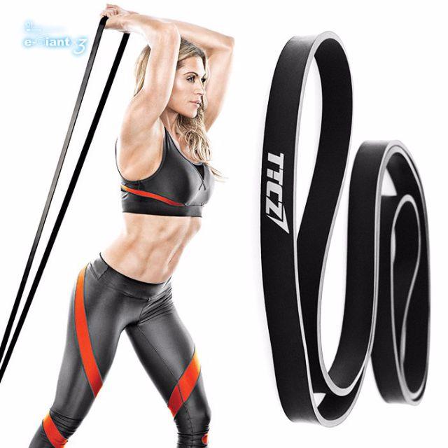 健身彈力繩 阻力帶 重量訓練 / 瑜珈  黑色羽量級 -商品 9成新 (300含運)