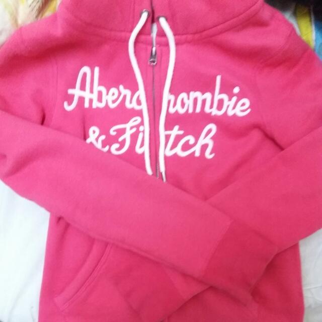 (保留)Abercombie&Fitch Af 桃紅連帽外套