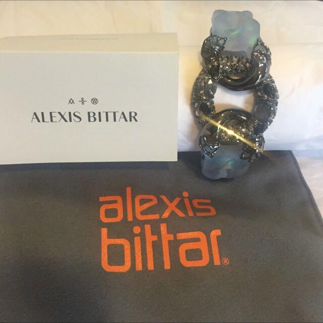 Alexis Bittar Pyrite Doublet & Crystal Encrusted Bracelet