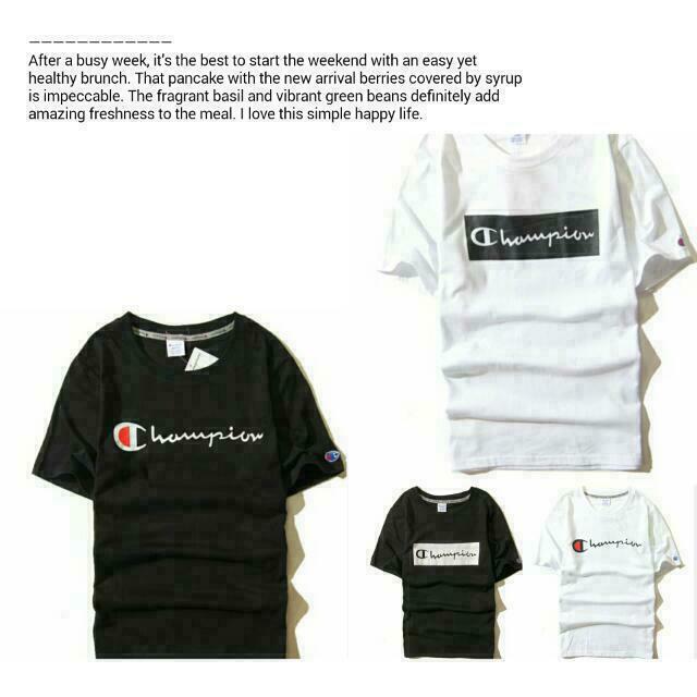 ®Champion  T-shirt  潮T 短T 情侶裝