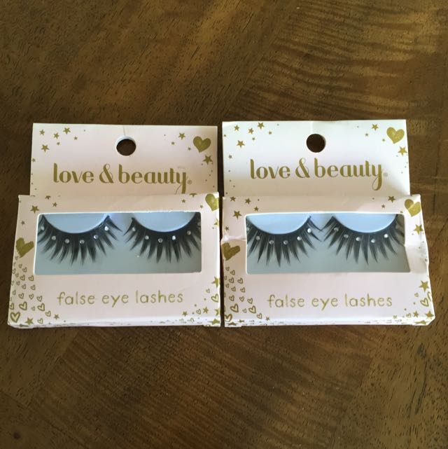 Diamanté False Eyelashes From HK